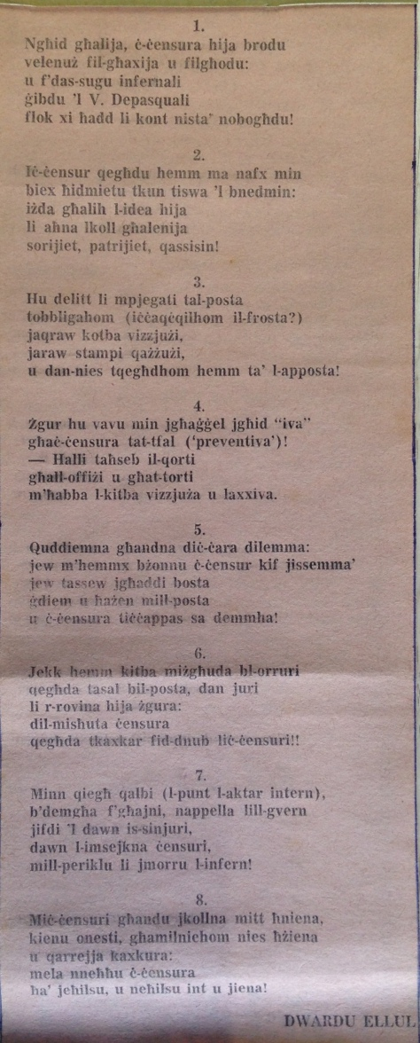 Dwardu Ellul - Limerikki 1972 - 1-8