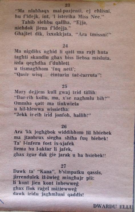 Dwardu Ellul - Limerikki 1972 - 23-27