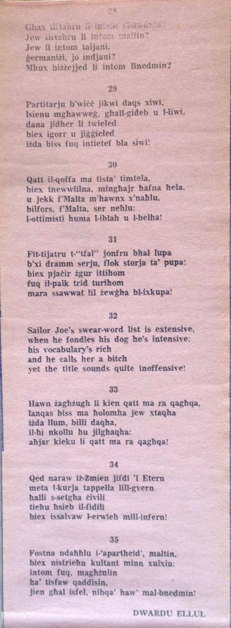 Dwardu Ellul - Limerikki 1972 - 28-35