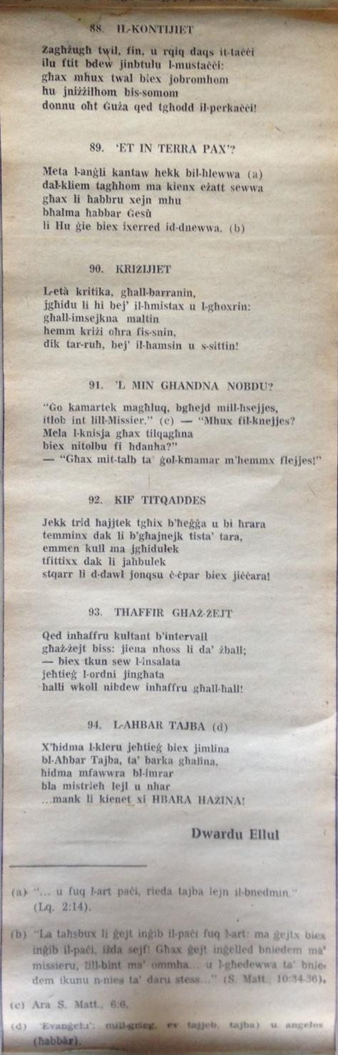 Dwardu Ellul - Limerikki 1973 - Kontijiet